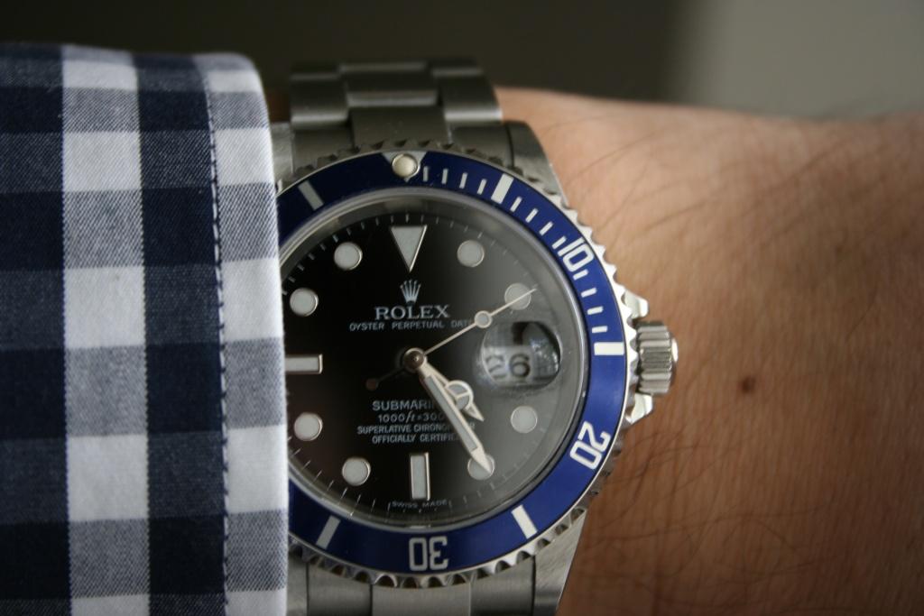 Rolex Submariner Blue Bezel Black Dial