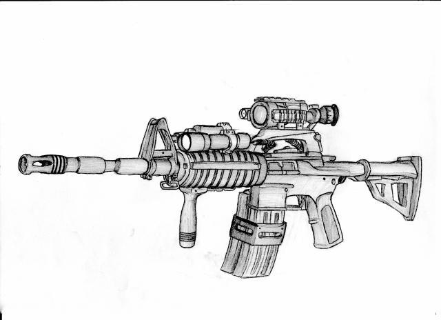 Coloriage Fortnite Arme