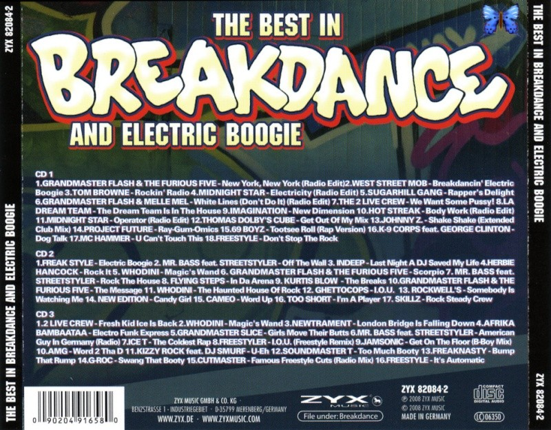 The Best In Breakdance & Electric Boogie 3cd