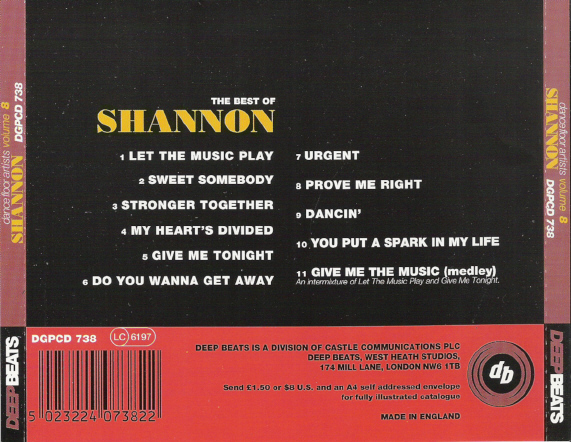 Deep Beats Dancefloor Artists No. 8 - Shannon