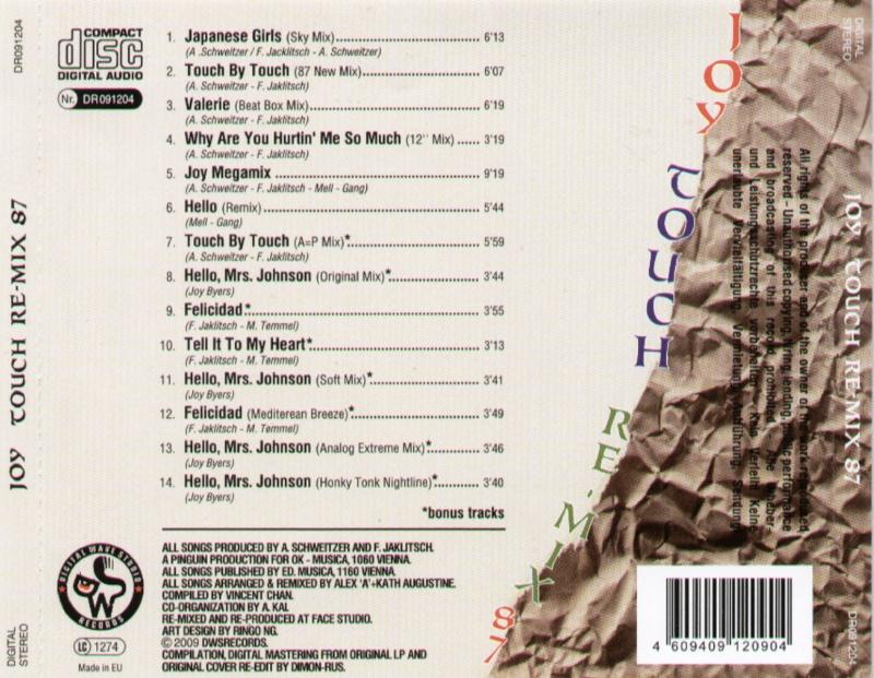 Joy - Touch Re-Mix 87