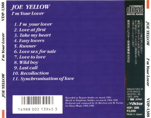 Joe Yellow - I'm Your Lover - The Album
