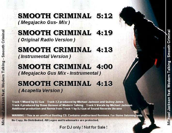 Modern Talking feat. Michael Jackson - Smooth Criminal - Bootleg