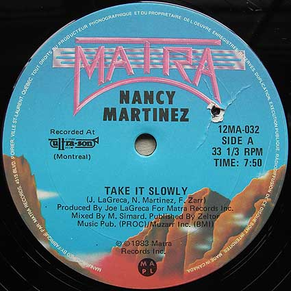 Nancy Martinez - Take It Slowly 12''