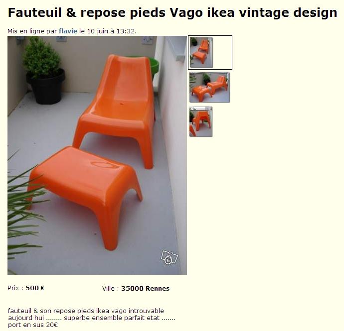 Recherche si ge de jardin ps vago d 39 ikea page 2 - Ikea fauteuil jardin vago toulouse ...