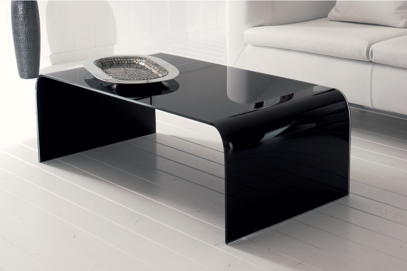 Table basse table en verre noir chez today 39 s collection - Table basse en verre noir ...
