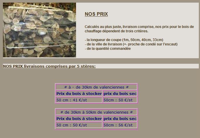 Tarif du st u00e8re de bois # Cout Stere De Bois