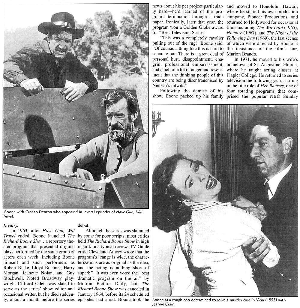 richard boone 19171981 western movies saloon forum