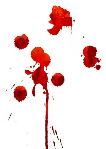 Trace de sang
