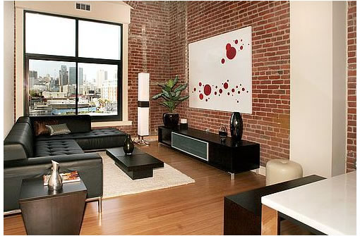 d coration brique rouge style loft new yorkais. Black Bedroom Furniture Sets. Home Design Ideas