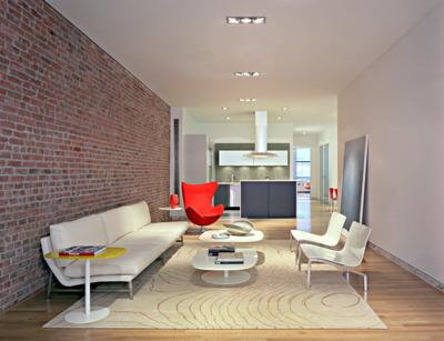une petite aide svp am nagement salon fa on loft et brique. Black Bedroom Furniture Sets. Home Design Ideas
