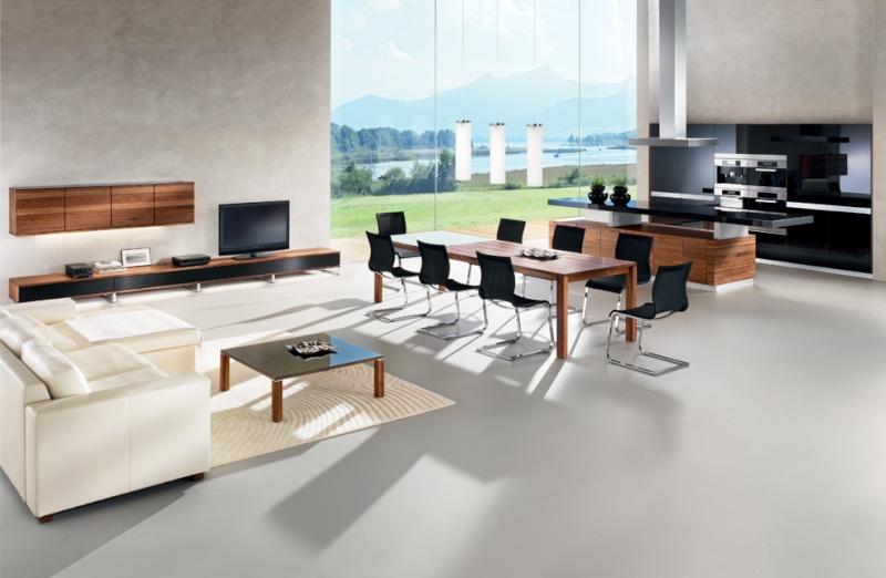 association de meubles en wengu et noir. Black Bedroom Furniture Sets. Home Design Ideas