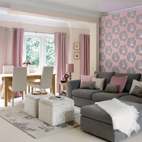 Quelle couleur de peinture ou papier peint pour salle et sal - Idee tapisserie salon ...