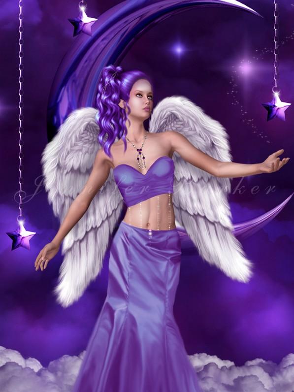 dans fond ecran ange violet ange_210