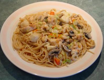 Spaghetti au saumon fum p te au saumon fum images frompo - Spaghetti aux fruits de mer ...