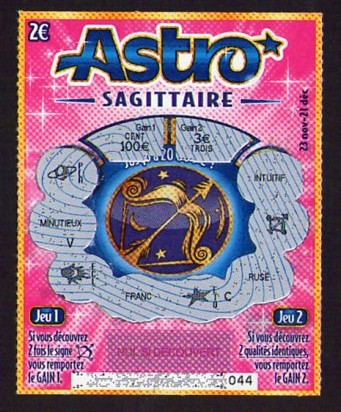 Astro jeu à gratter