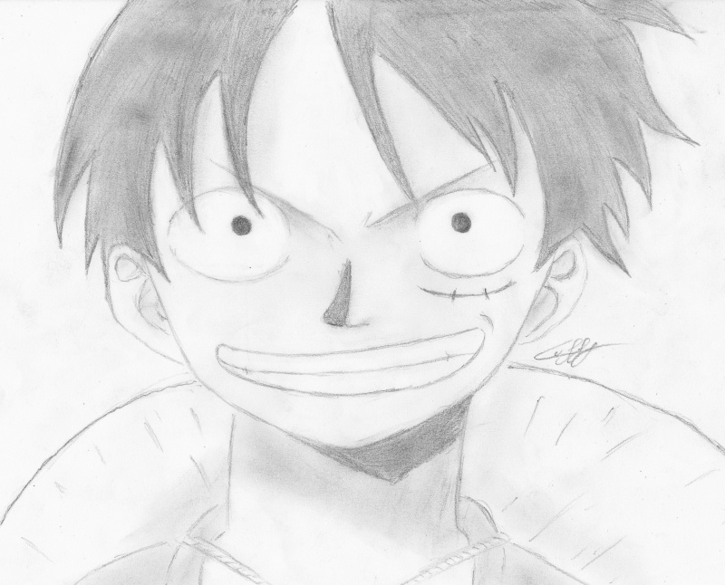 Comment dessiner luffy - Dessin a imprimer one piece ...