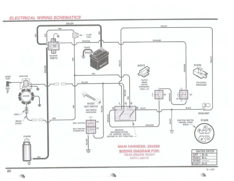 wiring schematic for craftsman lawn tractor wiring diagram wiring diagram for craftsman lawn mower schematics and