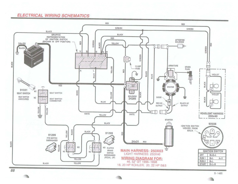 briggs engine wiring diagram 10 hp briggs parts again setup could be changed a bit, if you wanted to run lights separate on thier own circuit you can bypass the anti fire solenoid part as well