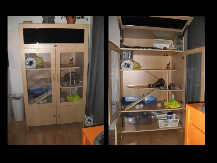 La cage fait maison page 3 for Accessoire furet fait maison