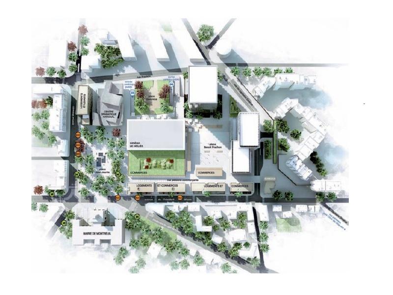 Montreuil sous bois  Coeur de ville ~ Plan De Montreuil Sous Bois