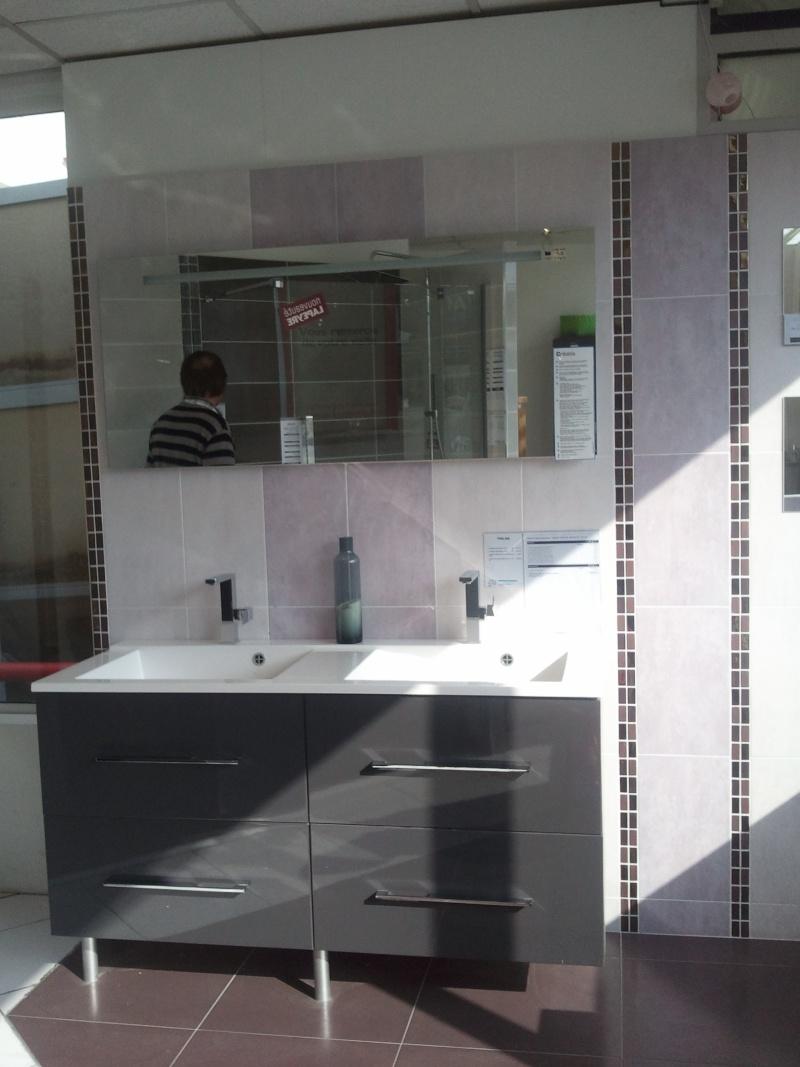 Petite salle de bain for Modele de salle de bain avec carrelage gris