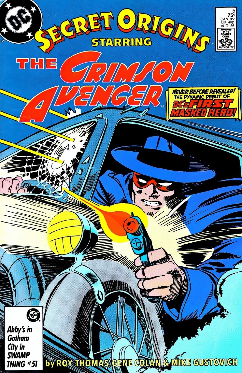 DC's first superhero: Golden Age Crimson Avenger (Lee Travis